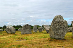 Megalitische monumenten in Bretagne Stock Afbeelding
