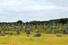 Megalitische monumenten in Bretagne Stock Foto