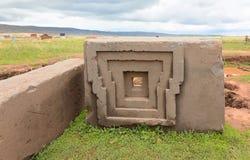Megalitisk sten i Bolivia Royaltyfria Bilder