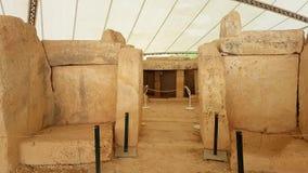 Megalitisk tempel Malta Royaltyfri Fotografi