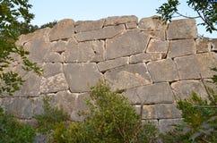 Megalityczna ściana Fotografia Stock