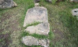 Megalityczni Tiya kamienia filary, UNESCO światowego dziedzictwa miejsce blisko, Etiopia Fotografia Royalty Free