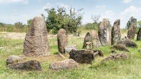 Megalityczni Tiya kamienia filary, UNESCO światowego dziedzictwa miejsce blisko, Etiopia Obraz Royalty Free