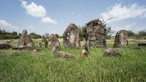 Megalityczni Tiya kamienia filary, UNESCO światowego dziedzictwa miejsce blisko, Etiopia Obrazy Royalty Free