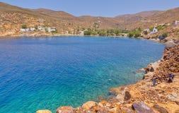 Megalo Livadi, île de Serifos, Grèce image libre de droits