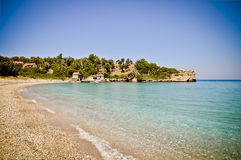 Megalo Seitani海滩,萨莫斯岛,希腊 免版税图库摄影