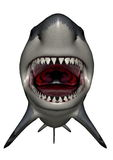 Megalodon dinosaur mouth - 3D render Stock Photo