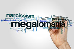 Megalomania word cloud Stock Image