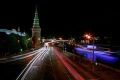 Megalopoli di notte Fotografia Stock Libera da Diritti