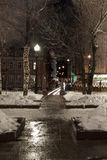 Megalopoli di notte Fotografie Stock