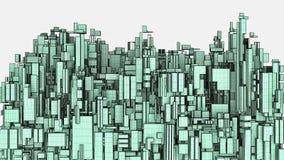 Megalopolis πόλη του διανύσματος ουρανοξυστών Στοκ φωτογραφίες με δικαίωμα ελεύθερης χρήσης
