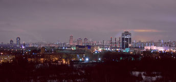 Megalopolis night panorama Stock Images