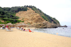 Megalos Aselinos  beach, Skiathos. Royalty Free Stock Photos