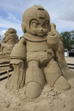 Megamens in het Festival van het Zandbeeldhouwwerk in Lappeenranta Royalty-vrije Stock Foto