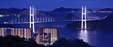 Megami Bridge Stock Images