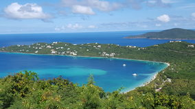 Megan`s bay St Thomas USVI. Beautiful landscape overlooking Magens Bay USVI stock image