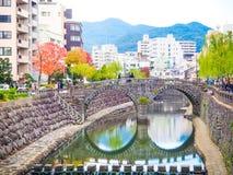Megane bridge in Nagasaki city, Japan Royalty Free Stock Photography