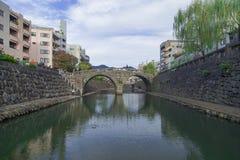 Megane bro i Nagasaki, Japan Foto som tas på 12 November 201 Arkivbilder