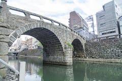 Megane bro i Nagasaki, Japan Foto som tas på 12 November 201 Fotografering för Bildbyråer