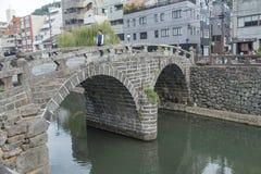 Megane bro i Nagasaki, Japan Foto som tas på 12 November 201 Arkivbild