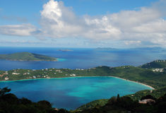 Megans Bay Beach Saint Thomas from Mountain Top Stock Image
