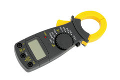 Megaohmmeter. High-resistance ohmmeter, voltmeter, ampermeter and thermometer stock photo
