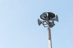 Megaphon-Lautsprecher-Beitrag Stockfotos