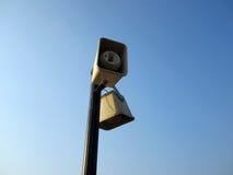 Megaphon mit blauem Himmel Stockfotografie