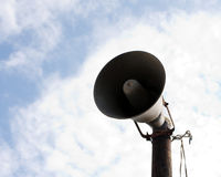 Megaphon over the sky Royalty Free Stock Images