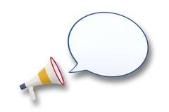 Megaphon-und Sprache-Blase Lizenzfreie Stockfotos