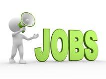 Megaphon und Wort JOBS Lizenzfreie Stockfotos