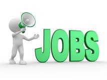 Megaphon und Wort JOBS Stockfotografie