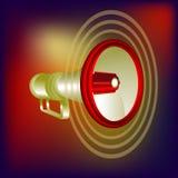 Megaphon wektor w czerwonym tle Obrazy Royalty Free