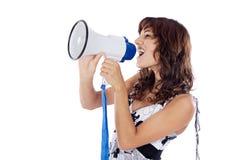 megaphone έφηβος Στοκ φωτογραφία με δικαίωμα ελεύθερης χρήσης