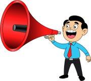 megaphone ατόμων πεδίων βάθους ρηχό απεικόνιση αποθεμάτων