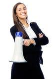 Megaphone γυναίκα στοκ εικόνες με δικαίωμα ελεύθερης χρήσης