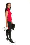 megaphone γυναίκα στοκ εικόνες