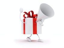 megaphone δώρων Στοκ φωτογραφία με δικαίωμα ελεύθερης χρήσης