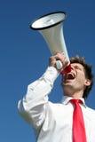 megaphone επιχειρηματιών Στοκ φωτογραφία με δικαίωμα ελεύθερης χρήσης