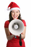 megaphone κοριτσιών Στοκ Φωτογραφία