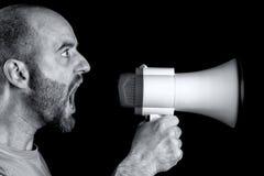 megaphone να φωνάξει Στοκ Εικόνα