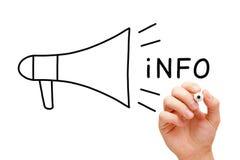 Megaphone πληροφοριών έννοια Στοκ Εικόνες