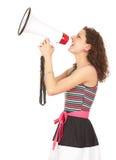 megaphone φωνάζοντας νεολαίες γ στοκ φωτογραφία με δικαίωμα ελεύθερης χρήσης