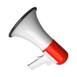 Megaphone. White and red megaphone vector illustration stock illustration