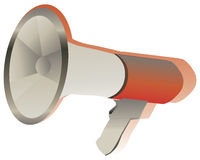 Megaphone. Illustration of a megaphone stock illustration