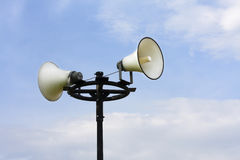 Megaphone. For announce in public Stock Image