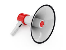 Megaphone. 3d illustration of megaphone different views over white Royalty Free Stock Photo