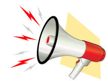 Megaphone. Illustration with Loud Symbols Royalty Free Stock Photos