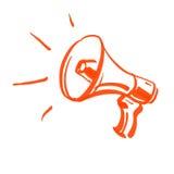 megaphone ilustração royalty free