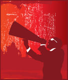Megaphone. Guy With Glasses With a Megaphone royalty free illustration